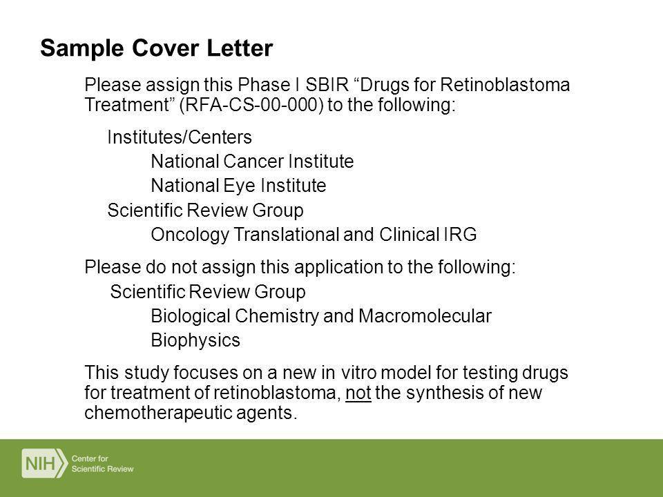nih grant cover letter