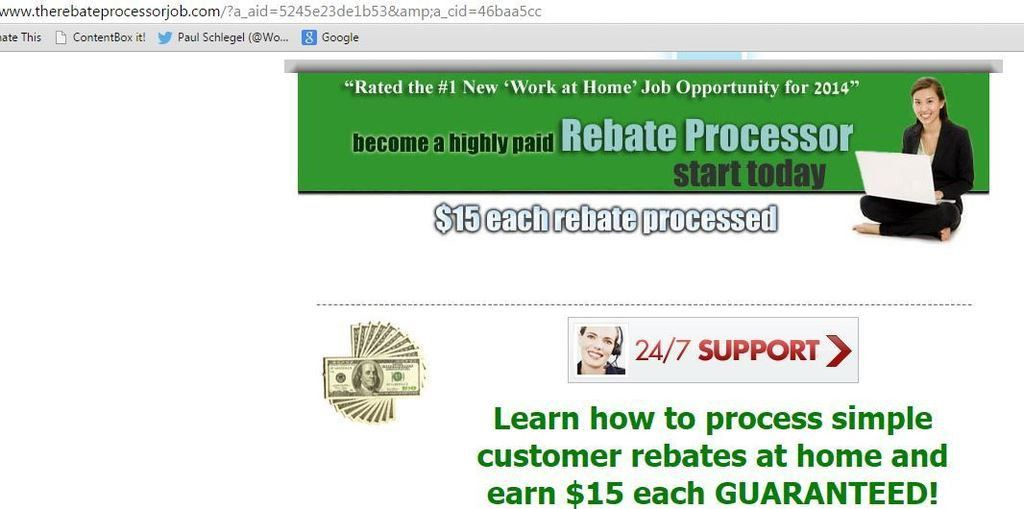 The Paid Rebate Processor Job at ThePaidRebateProcessorJob.com