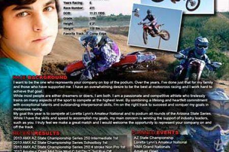 motocross sponsorship resume Template, Motocross Racing Resume ...