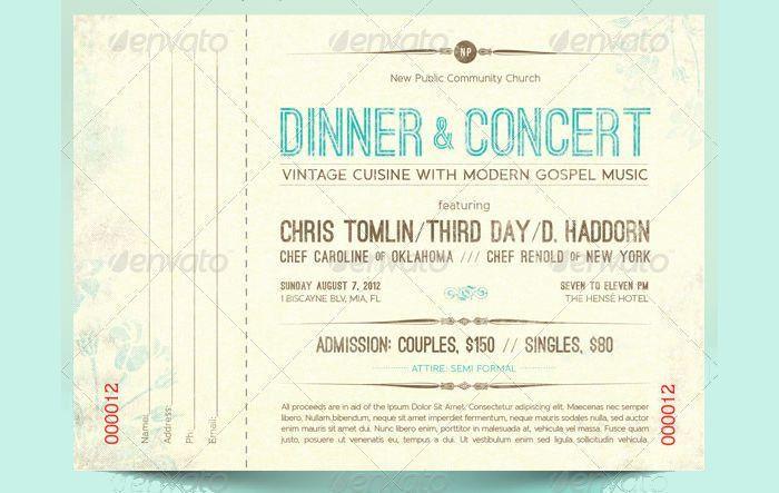 15+ Concert Ticket Templates | Design Trends - Premium PSD, Vector ...