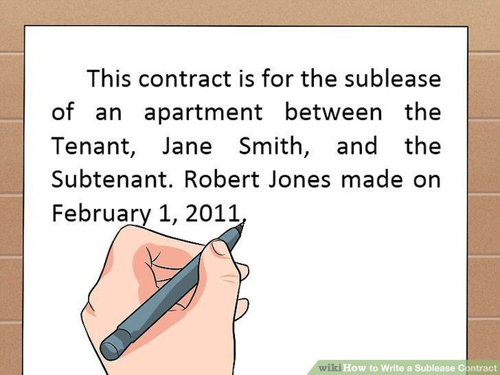 How to Write a Sublease Contract (with Free Sample Contract)
