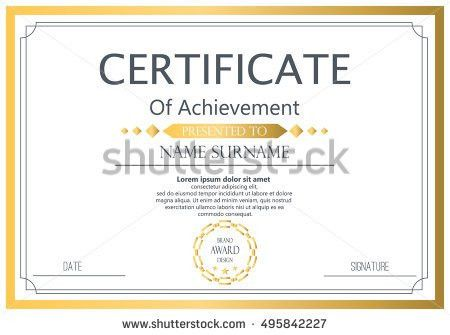 Vector Certificate Template Vector Award Graduation Stock Vector ...