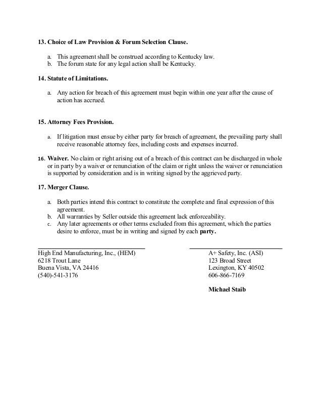 Sale of Goods Contract