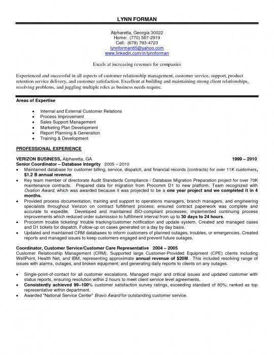 Elegant Customer Service Experience Resume | Resume Format Web