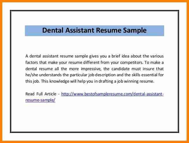 resume objective dental assistant dental assistant resume sample