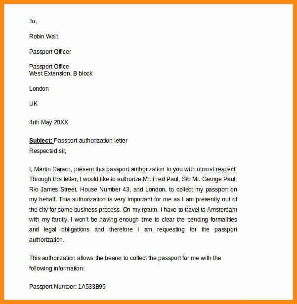 8+ authorization letter for passport | model resumed