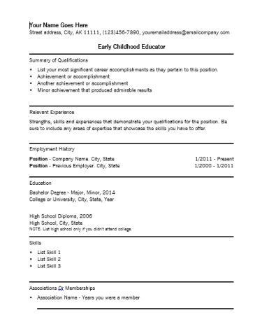 teacher resume example resume template bestcher resume template ...