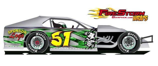 IMCA Dirt Modified Wraps, Race Car Numbers, Race Car Decals, Race ...