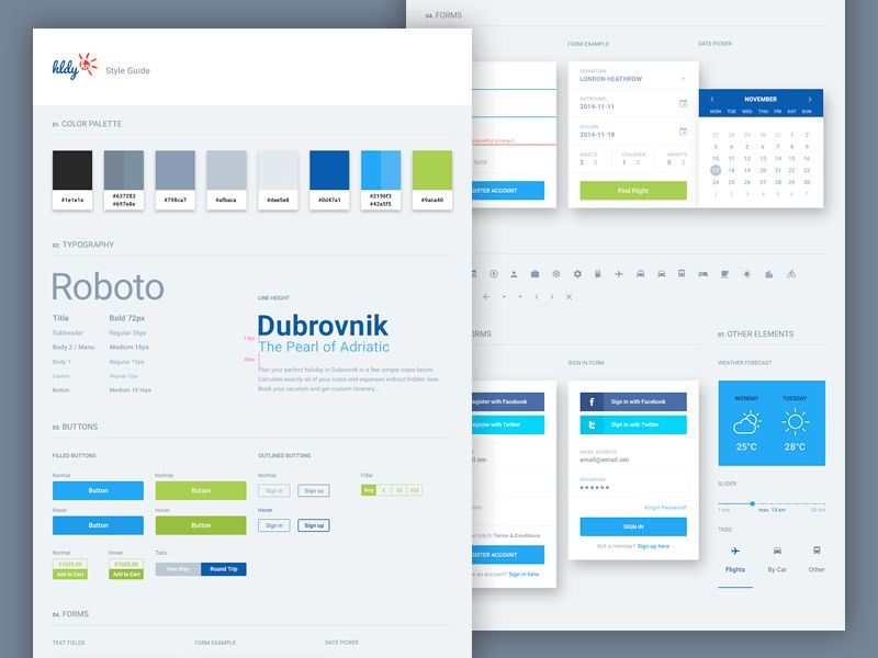 25 Inspirational Examples of UI Style Guides