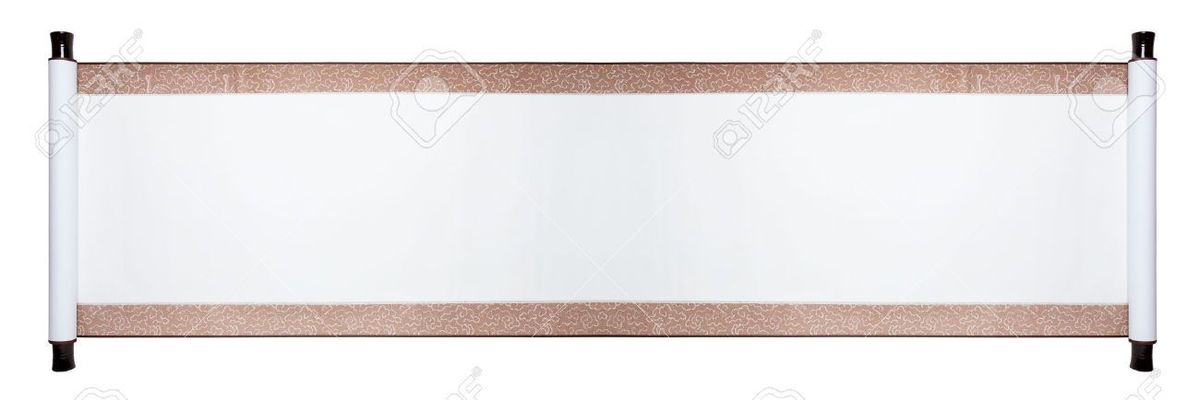 Blank Paper Scroll Isolated On White Background Stock Photo ...