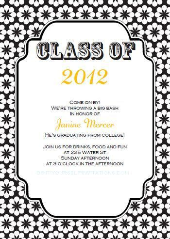 Printable DIY Templates For Grad Announcements : Partytime ...
