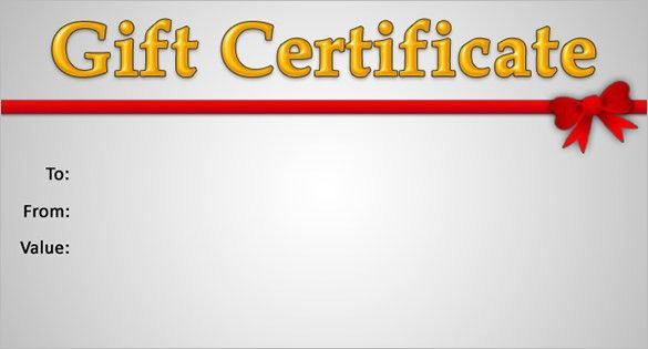 15 New Gift Certificate Templates | Certificate Templates