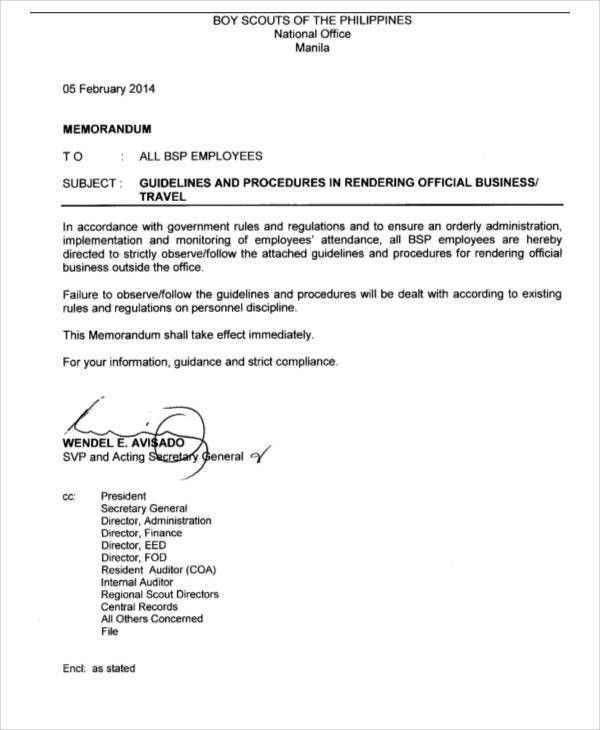 10 Business Memo Templates - Free Sample, Example, Format Download