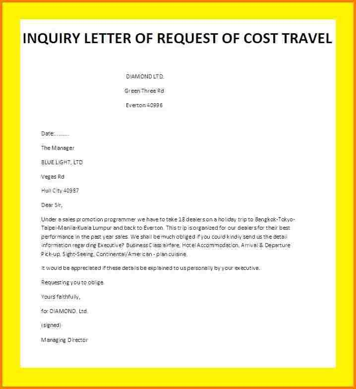 8+ how to write inquiry letter | quote templates