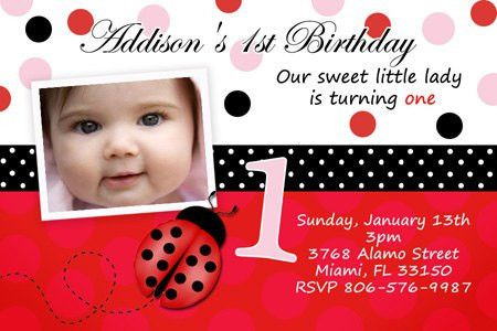 Baby First Birthday Invitation Card - Festival-tech.Com