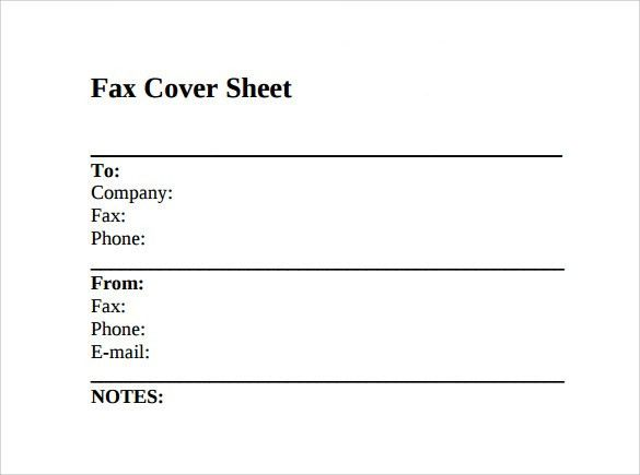 Sample Fax Cover Sheet – 11+ Documents in PDF, Word