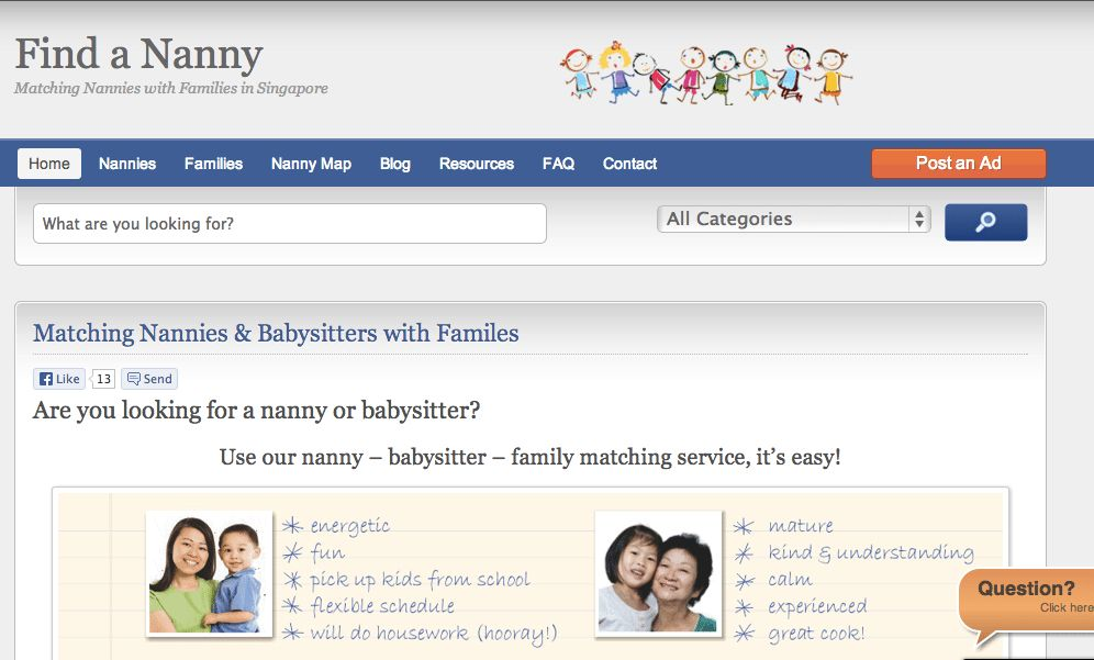 Part time babysitter or nanny in Singapore - childcare and babysitting