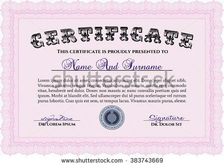 Vector Certificate Template Stock Vector 306414905 - Shutterstock