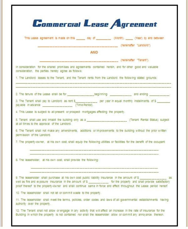 Best Photos of Commercial Lease Purchase Agreement Template - Free ...