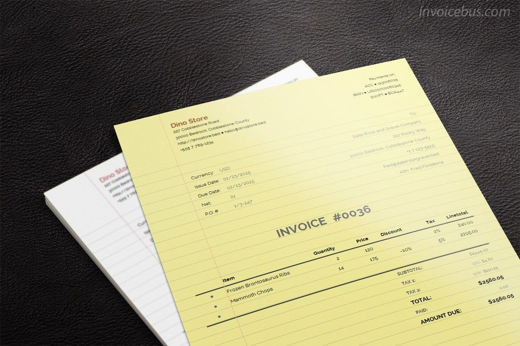 Paperlike Invoice Template - Lily