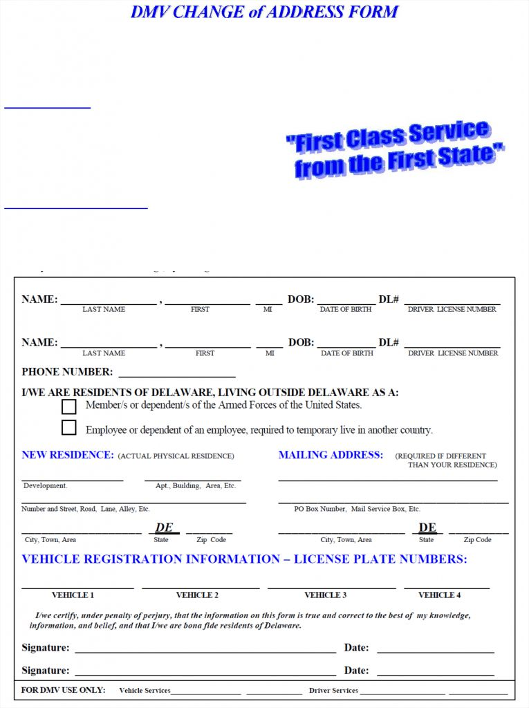 Change Of Address Printable Form Sample Consignment Agreement ...