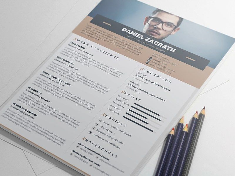 FREE Elegant Resume / CV Template by MONSTERLELE Studio - Dribbble