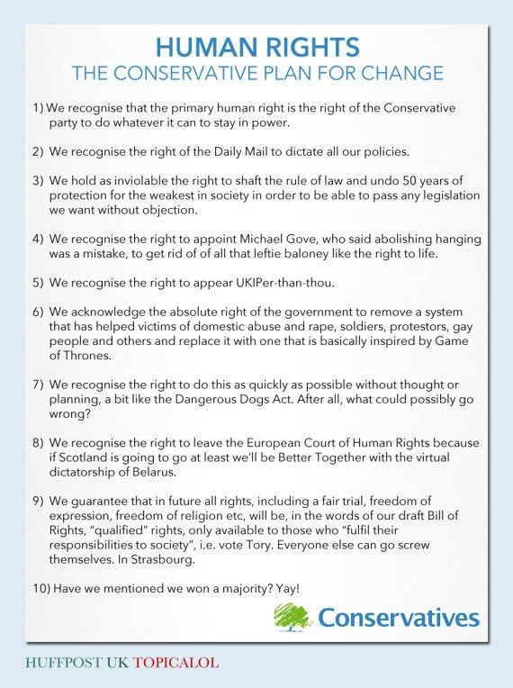Human Rights Act To Be Scrapped: But What Will The Tories Put In ...