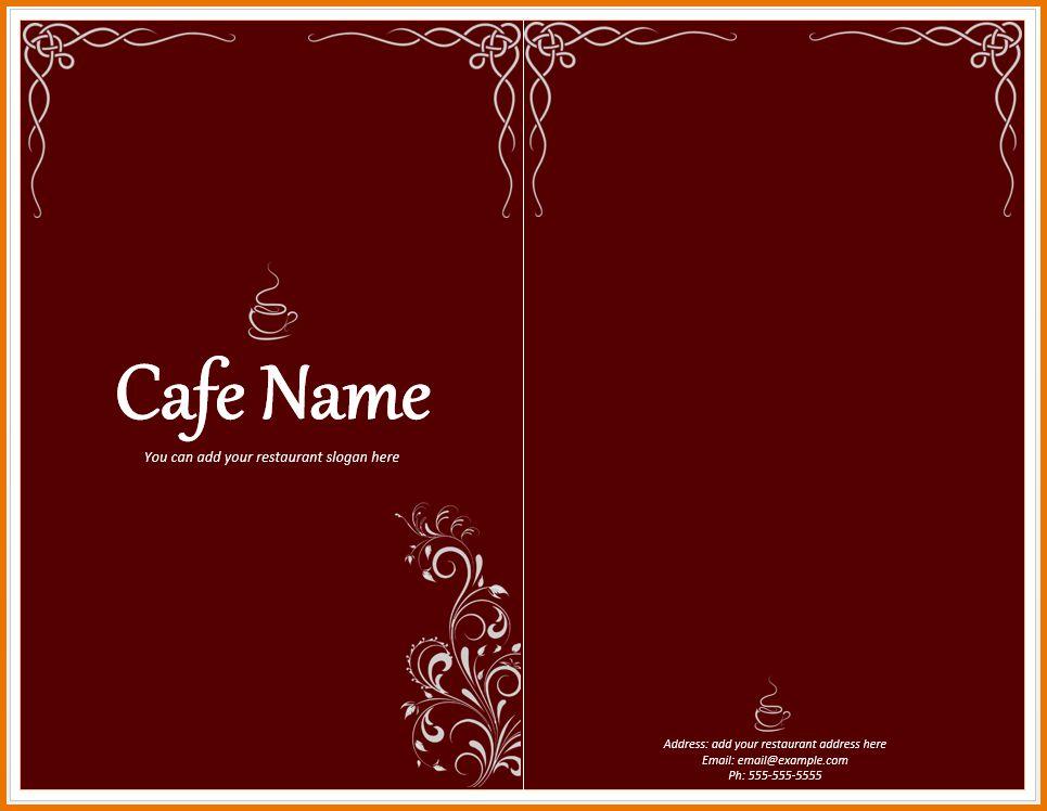Free Restaurant Menu Templates.Cafe Menu Template.png | Scope Of ...