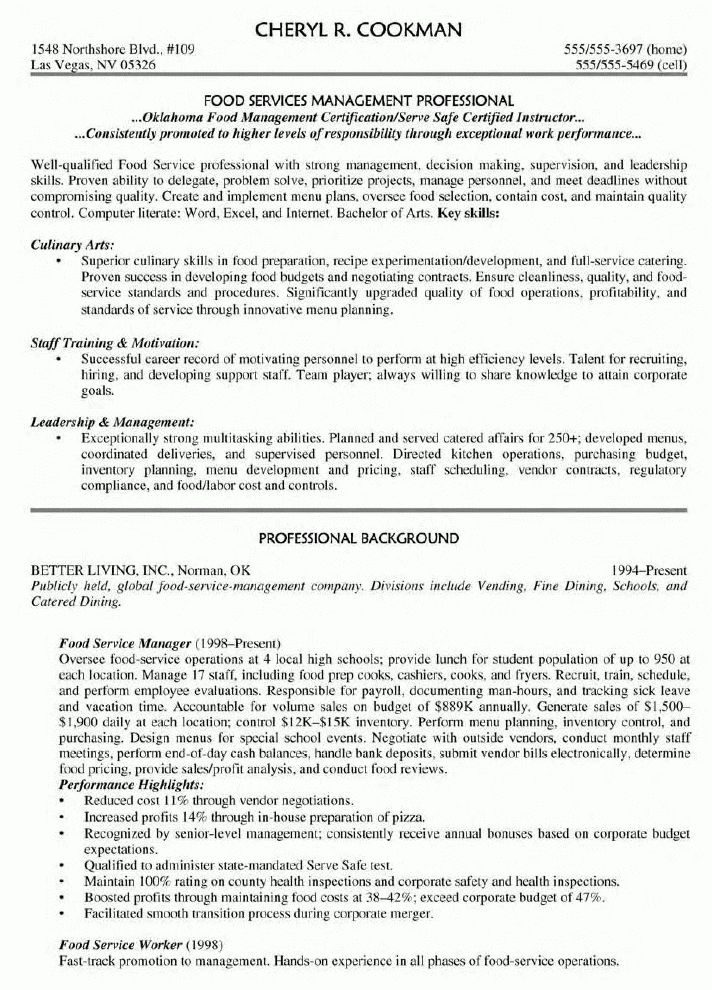 Sample Manager Resume | Resume Badak