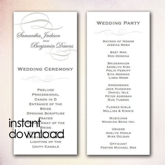 14 best menu / program cards images on Pinterest | Wedding program ...