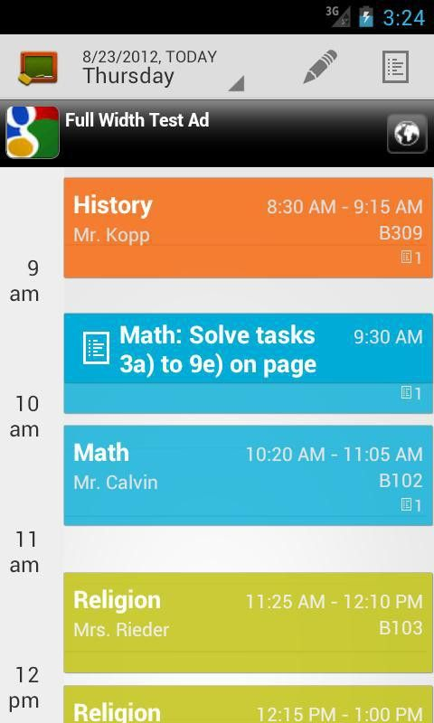 My Class Schedule: Timetable - Android Apps on Google Play