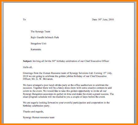 8+ informal invitation letter | quote templates