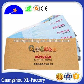 Anti-counterfeiting Printing Paper Ticket Security Custom Coupons ...