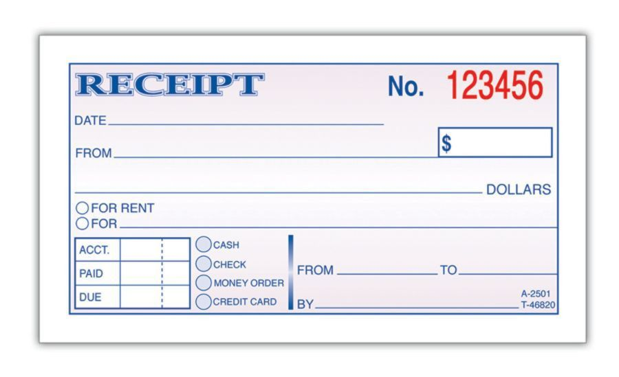 Printable Receipt Form. Free Receipt Forms 7+ Rent Receipt Format ...