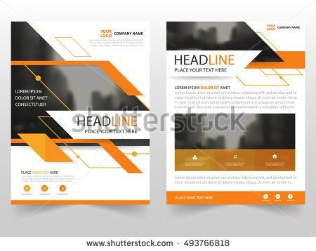 Blue Black Vector Annual Report Leaflet Stock Vector 566096068 ...