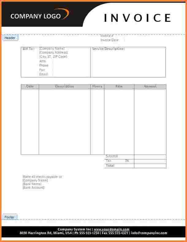 8+ services invoice template word | Invoice Template