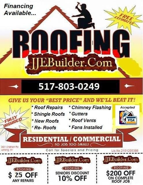 Roofing, Siding, Eaves Trough, Down Spout, Lansing, MI - J.J.Eagle ...