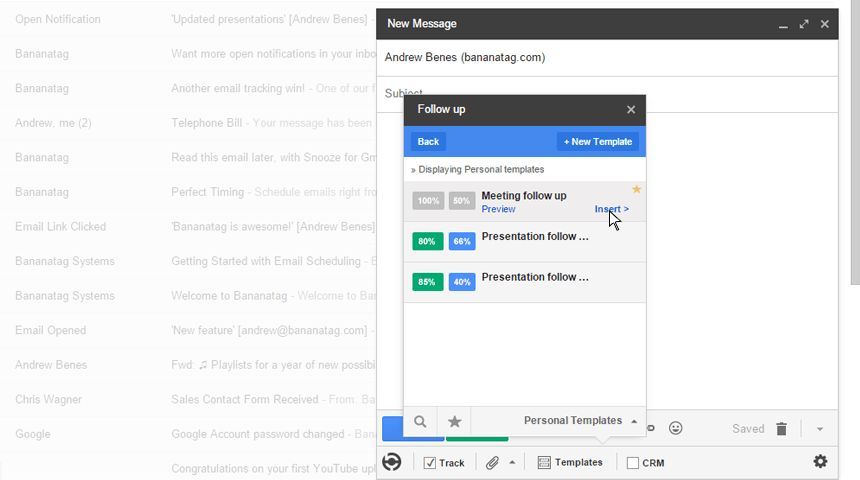 How to use Email Templates in Gmail | Bananatag