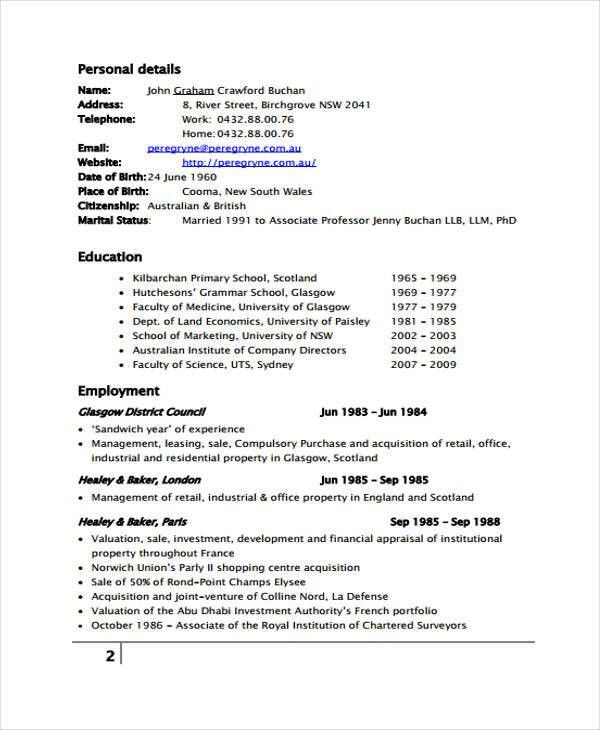 9+ Management Resume Templates - Free Sample, Example Format ...