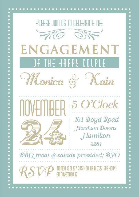 Free Printable Engagement Party Invitations – gangcraft.net