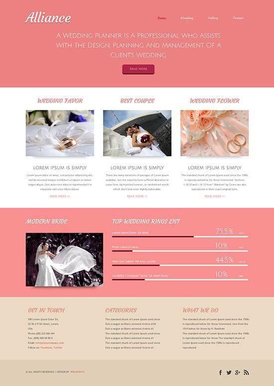70+ Best Wedding Website Templates Free & Premium - freshDesignweb