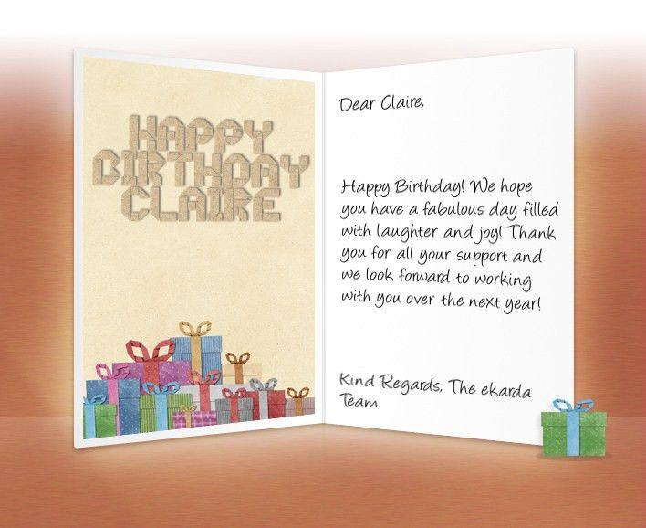 rectangular shape professional birthday cards modern ideas white ...