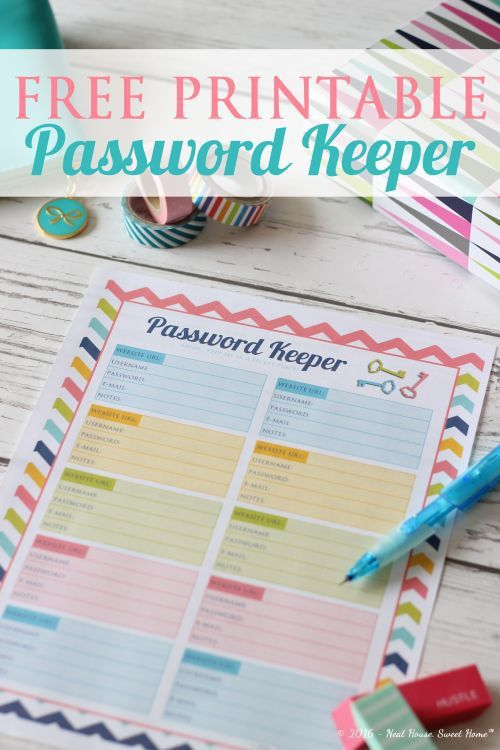 25+ best Password printable ideas on Pinterest | Find my password ...