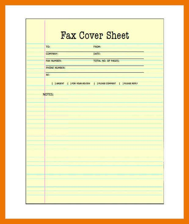 4+ fax cover sheet template pdf | apa date format