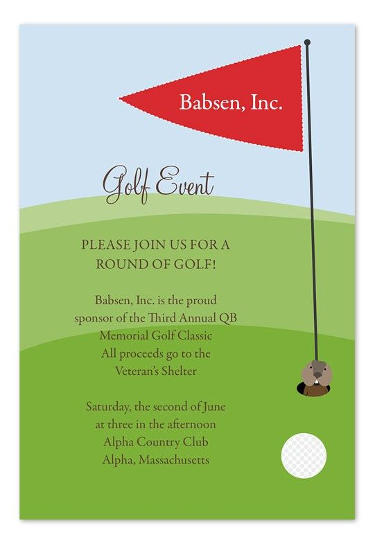 Golf Event Invitation Templates