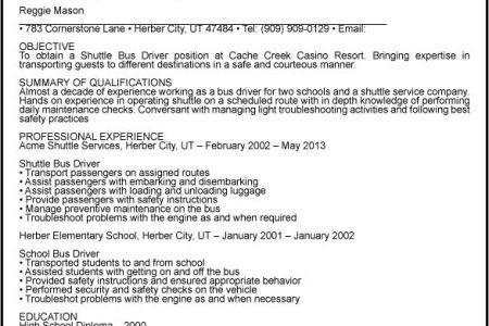 shuttle driver resume professional shuttle bus driver templates
