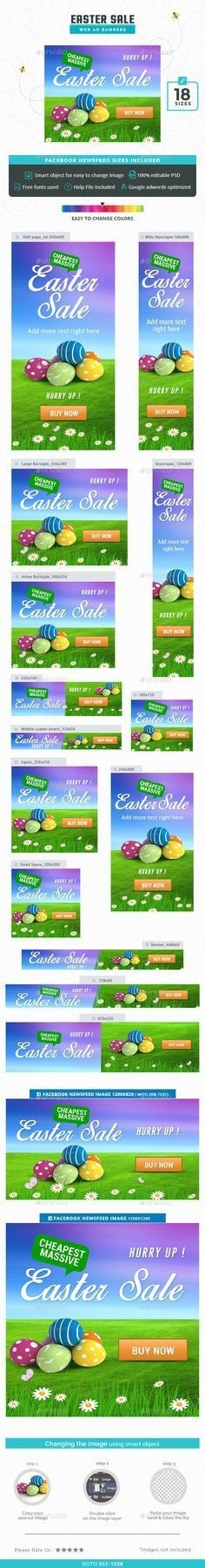 Facebook Ads - 40 Designs - 80 Banners | Banner template, Banners ...