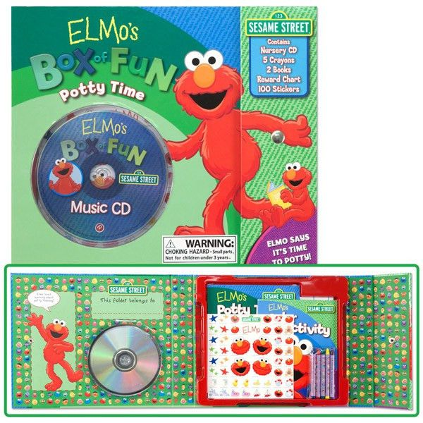 Elmo's Potty Time Box of Fun- Book, CD, Chart, Stickers and more ...