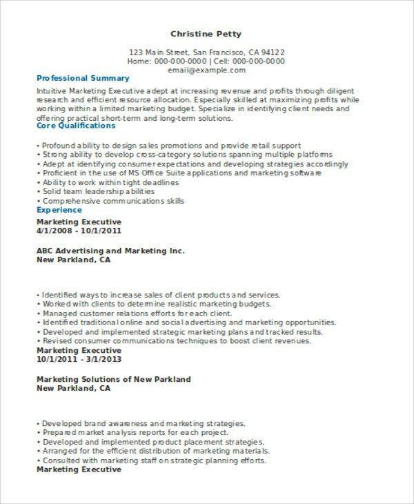 31+ Executive Resume Templates in Word | Free & Premium Templates