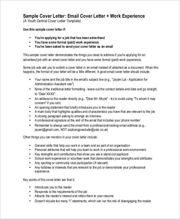 cover letter as email sample cover letter for dental assistant how ...